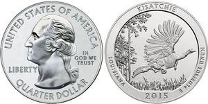 25 Cent / 1/4 Dollar 美利堅合眾國 (1776 - ) 銀 乔治·华盛顿