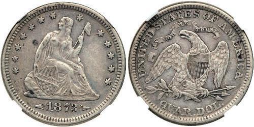 25 Cent / 1/4 Dollar 美利堅合眾國 (1776 - ) 銀/銅