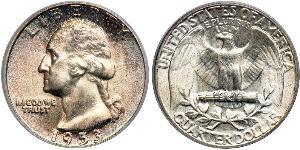 25 Cent / 1/4 Dollar USA (1776 - ) Copper/Silver George Washington