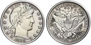 25 Cent / 1/4 Dollar USA (1776 - ) Copper/Silver