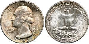 25 Cent / 1/4 Dollar USA (1776 - ) Copper/Silver George Washington