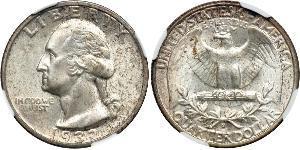 25 Cent / 1/4 Dollar Vereinigten Staaten von Amerika (1776 - ) Silber/Kupfer George Washington