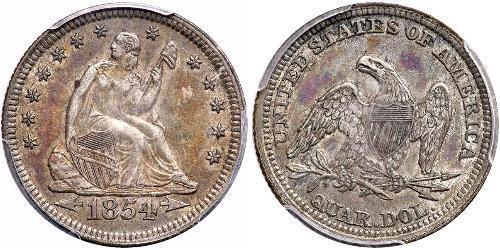 25 Cent / 1/4 Dollar Vereinigten Staaten von Amerika (1776 - ) Silber/Kupfer
