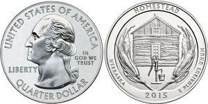 25 Cent / 1/4 Dollar USA (1776 - ) Silver George Washington