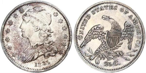 25 Cent / 1/4 Dollar USA (1776 - ) Silver