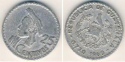 25 Centavo 危地马拉 銀