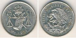 25 Centavo 墨西哥 銀