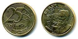 25 Centavo Brasilien Messing/Stahl