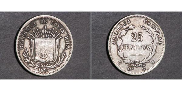 25 Centavo Costa Rica Plata