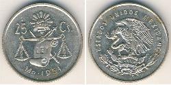 25 Centavo Mexiko (1867 - ) Silber