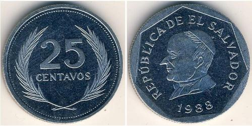 25 Centavo El Salvador Stainless steel