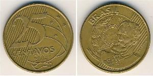 25 Centavo 巴西 Steel/黃銅