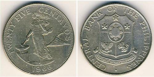 25 Centavo Philippinen Tin/Kupfer/Zink
