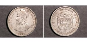 25 Centesimo Panama Argent