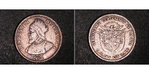 25 Centesimo Panamá Argento