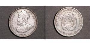 25 Centesimo Panama Silber