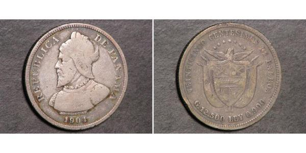 25 Centesimo Republic of Panama Silver