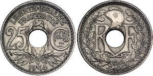 25 Centime 法兰西第三共和国 (1870 - 1940) 銅/镍