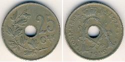 25 Centime Belgium Copper/Nickel