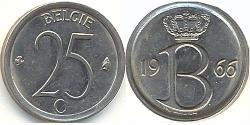 25 Centime Belgium Copper/Nickel