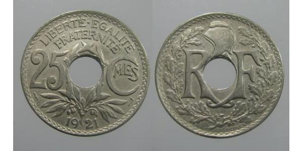 25 Centime French Third Republic (1870-1940)  Copper/Nickel