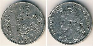 25 Centime  Nickel