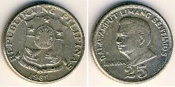 25 Centimo Philippines Copper/Nickel/Zinc
