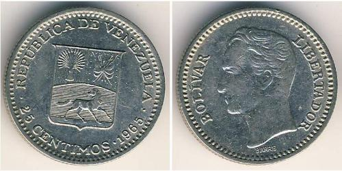 25 Centimo Venezuela Nickel Simon Bolivar (1783 - 1830)
