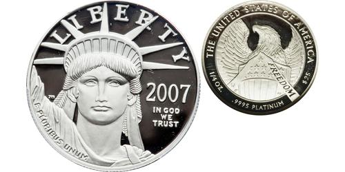 25 Dólar Estados Unidos de América (1776 - ) Platino