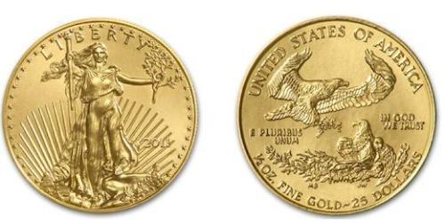 25 Dollar 美利堅合眾國 (1776 - ) 金