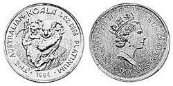 25 Dollar Australia (1939 - ) Platinum Elizabeth II (1926-)