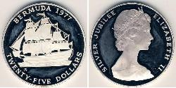 25 Dollar Bermuda Silver Elizabeth II (1926-)
