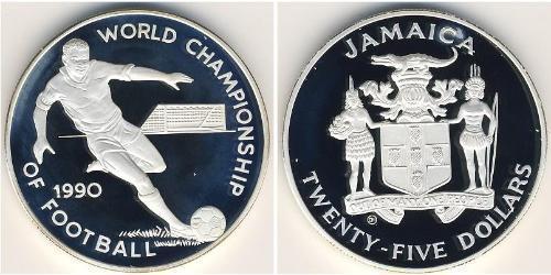 25 Dollar Jamaica (1962 - ) Silver