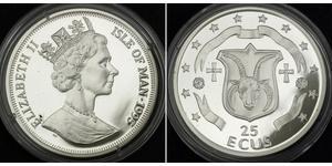 25 Ecu Isle of Man Silver Elizabeth II (1926-)