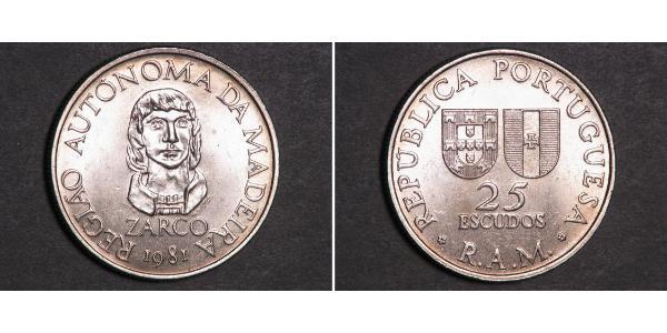 25 Escudo Portugal / Madeira Copper/Nickel