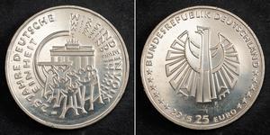25 Euro Allemagne (1990 - ) Argent
