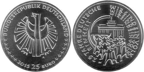 25 Euro Alemania (1990 - ) Plata