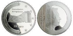 25 Euro Luxemburg Silber