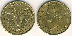 25 Franc French West Africa (1895-1958) Brass
