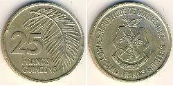 25 Franc Republic of Guinea Brass