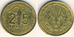 25 Franc Togo Messing