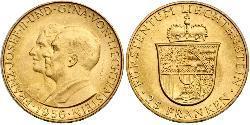 25 Franc Liechtenstein Oro Franz Joseph II, Prince of Liechtenstein (1938 - 1989)