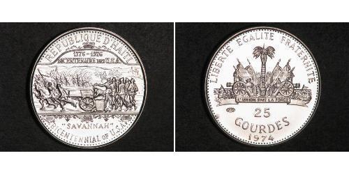 25 Gourde Гаити Серебро