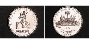 25 Gourde Haiti Argento