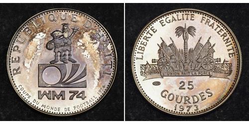 25 Gourde Haití Plata