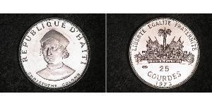 25 Gourde Haiti Silver