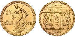 25 Gulden 但澤自由市 (1920 - 1939) 金