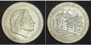 25 Gulden 荷属安的列斯 (1954 - 2010) 銀 朱丽安娜女王