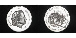 25 Gulden Netherlands Antilles (1954 – 2010) Silver Juliana of the Netherlands (1909 – 2004)