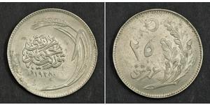25 Kurush Turquía (1923 - ) Níquel